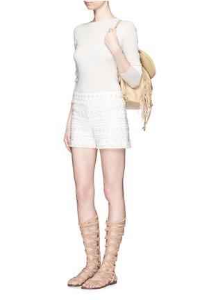 模特示范图 - 点击放大 - ALICE + OLIVIA - SUSI高腰短裤