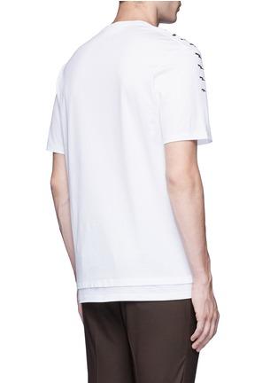 背面 - 点击放大 - NEIL BARRETT - 闪电印花纯棉T恤