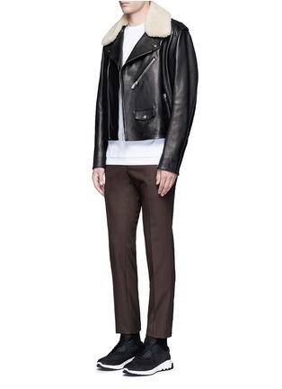 模特儿示范图 - 点击放大 - NEIL BARRETT - 闪电印花纯棉T恤