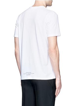 背面 - 点击放大 - NEIL BARRETT - 雕塑拼接人像胶印纯棉T恤