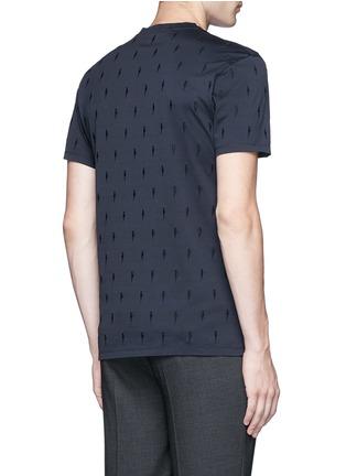 背面 - 点击放大 - NEIL BARRETT - 闪电刺绣纯棉T恤