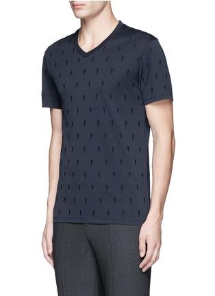 正面 -点击放大 - NEIL BARRETT - 闪电刺绣纯棉T恤