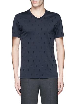 首图 - 点击放大 - NEIL BARRETT - 闪电刺绣纯棉T恤