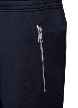 细节 - 点击放大 - NEIL BARRETT - 皮革拼接机车款长裤