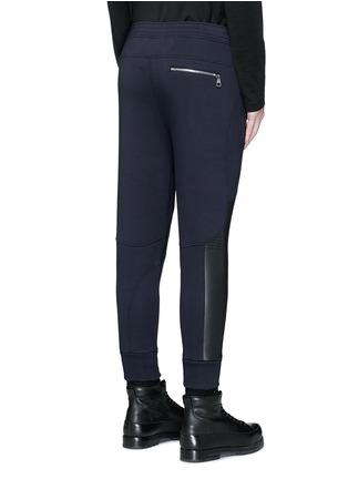 背面 - 点击放大 - NEIL BARRETT - 皮革拼接机车款长裤