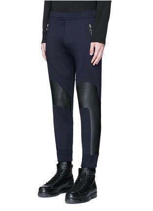 正面 - 点击放大 - NEIL BARRETT - 皮革拼接机车款长裤