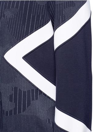 细节 - 点击放大 - NEIL BARRETT - 竖纹三角图案卫衣