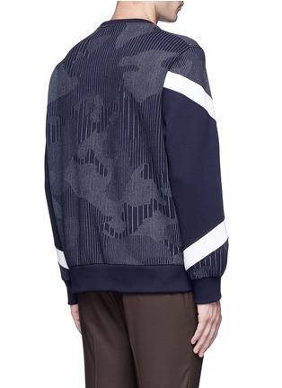 背面 - 点击放大 - NEIL BARRETT - 竖纹三角图案卫衣
