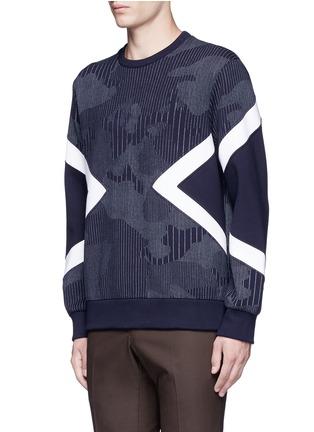 正面 -点击放大 - NEIL BARRETT - 竖纹三角图案卫衣