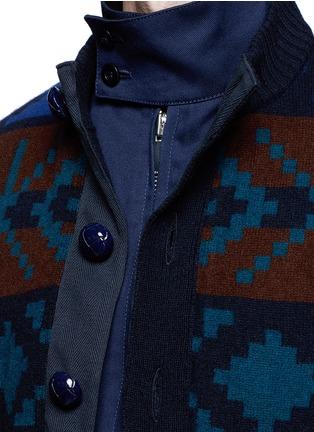 细节 - 点击放大 - SACAI - 像素提花羊毛双层外套