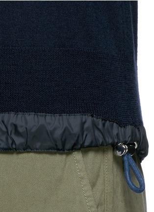细节 - 点击放大 - SACAI - 拼接衣摆羊毛针织衫