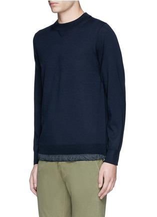 正面 -点击放大 - SACAI - 拼接衣摆羊毛针织衫
