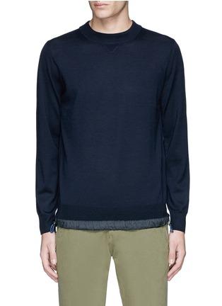 首图 - 点击放大 - SACAI - 拼接衣摆羊毛针织衫