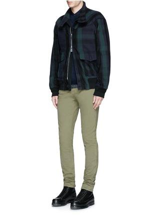 模特儿示范图 - 点击放大 - SACAI - 拼接衣摆羊毛针织衫