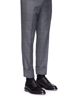 Thom Browne 雕花装饰粒面小牛皮德比鞋