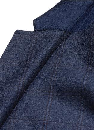 - ARMANI COLLEZIONI - M LINE格纹羊毛西服套装
