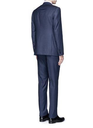 背面 - 点击放大 - ARMANI COLLEZIONI - M LINE格纹羊毛西服套装