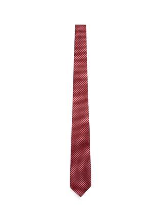 首图 - 点击放大 - ARMANI COLLEZIONI - 拼色菱格真丝领带