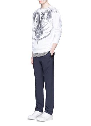 模特示范图 - 点击放大 - MARCELO BURLON - AURORA数码印花纯棉T恤