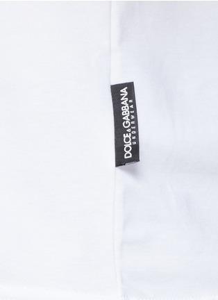 细节 - 点击放大 - DOLCE & GABBANA - 圆领弹性棉T恤