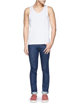 模特儿示范图 - 点击放大 - DOLCE & GABBANA - 弹性棉料背心套装