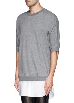正面 -点击放大 - 3.1 PHILLIP LIM - 纯棉拼贴套头上衣