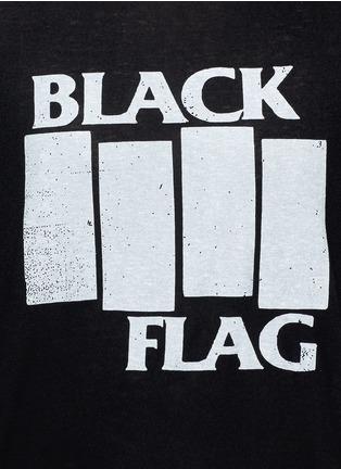 细节 - 点击放大 - R13 - 英文字印花棉混羊绒T恤