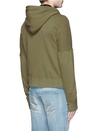 背面 - 点击放大 - R13 - 不修边纯棉连帽外套