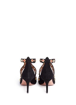背面 - 点击放大 - AQUAZZURA - BYZANTINE弧线镂空麂皮高跟鞋