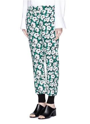 正面 - 点击放大 - STELLA MCCARTNEY - 花卉印花收脚休闲裤