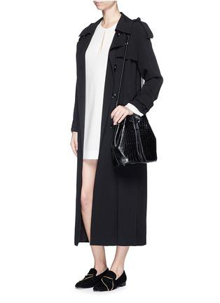 模特示范图 - 点击放大 - ELIZABETH AND JAMES - 梭形镂空连衣裙