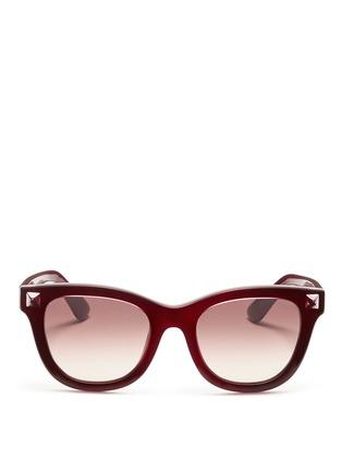 首图 - 点击放大 - VALENTINO - Valentino Garavani WAYFARER款铆钉太阳眼镜