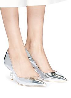 SOPHIA WEBSTER COCO仿水晶缀饰小牛皮中跟鞋
