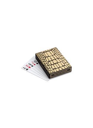 细节 –点击放大 - L'OBJET - 鳄鱼压纹瓷盒纸牌套装