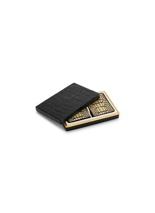 首图 –点击放大 - L'OBJET - 鳄鱼压纹瓷盒纸牌套装