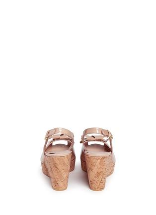 背面 - 点击放大 - Stuart Weitzman - Boda Jean漆皮露趾坡跟鞋