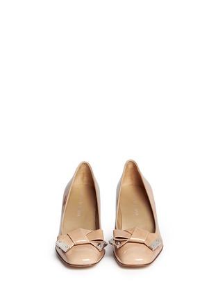 正面 - 点击放大 - STUART WEITZMAN - 蝴蝶结方头漆皮中跟鞋