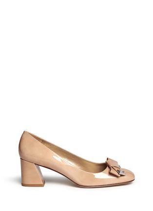 首图 - 点击放大 - STUART WEITZMAN - 蝴蝶结方头漆皮中跟鞋