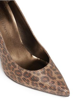 细节 - 点击放大 - STUART WEITZMAN - HEIST金属网眼豹纹图案高跟鞋