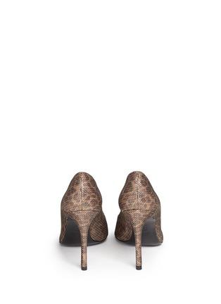 背面 - 点击放大 - STUART WEITZMAN - HEIST金属网眼豹纹图案高跟鞋