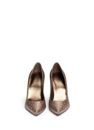 正面 - 点击放大 - STUART WEITZMAN - HEIST金属网眼豹纹图案高跟鞋