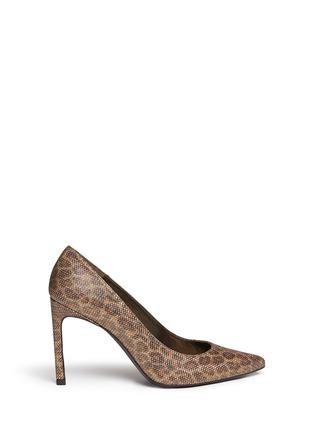 首图 - 点击放大 - STUART WEITZMAN - HEIST金属网眼豹纹图案高跟鞋