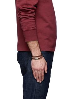 TATEOSSIAN 仿皮罗缎编织双圈手带