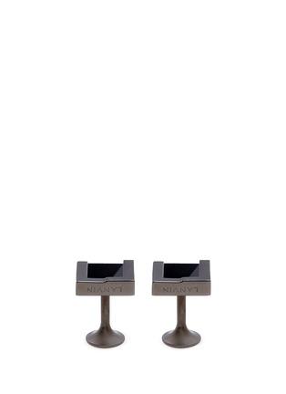 细节 - 点击放大 - LANVIN - 可替换式仿宝石方形袖扣
