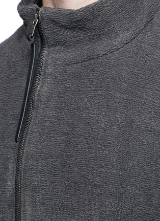 细节 - 点击放大 - THE VIRIDI-ANNE - 不对称纯棉提花外套