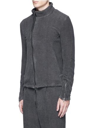 正面 -点击放大 - THE VIRIDI-ANNE - 不对称纯棉提花外套