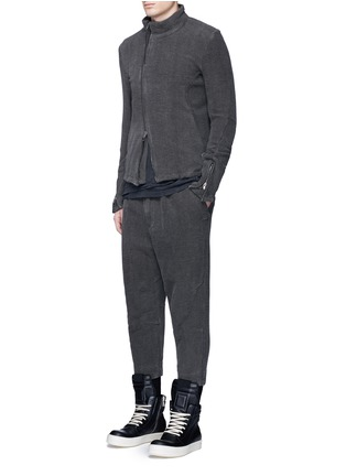 模特儿示范图 - 点击放大 - THE VIRIDI-ANNE - 不对称纯棉提花外套
