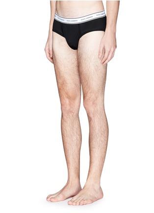 模特儿示范图 - 点击放大 - DOLCE & GABBANA - 条纹边饰三角内裤