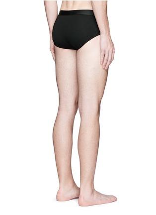 背面 - 点击放大 - DOLCE & GABBANA - SPORT CREST刺绣徽章棉质三角内裤