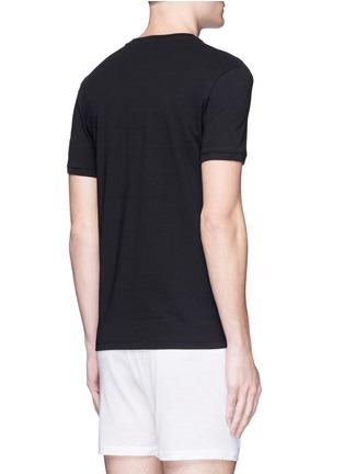 背面 - 点击放大 - DOLCE & GABBANA - 品牌标志刺绣v领T恤